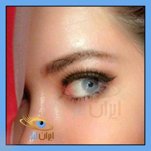 رنگ لنز مجیک اسموک روی چشم مدل