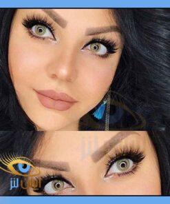 رنگ لنز سان فلاور روی چشم مدل