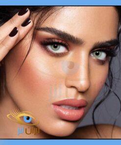 فروش لنز چشم طبی و رنگی سبز دورتیله ای روزانه و سالانه دهب