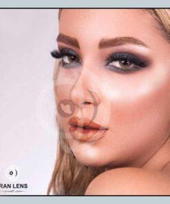 لنز چشم رنگی قهوه ای عسلی دوردار سالانه برند ترسا لاکچری