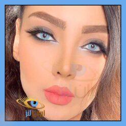 لنز رنگی آلاسکا روی چشم مدل