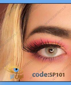 لنز رنگی پیچی گری کد SP101