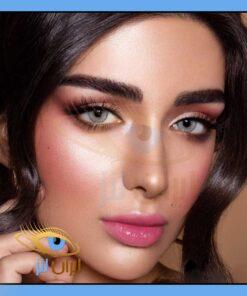 فروش لنز چشم رنگی و طبی سولیتر طوسی روشن دوردار سالانه و روزانه دهب