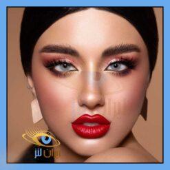 فروش لنز چشم رنگی و طبی روزانه و سالانه اسکای طوسی سبز روشن دهب