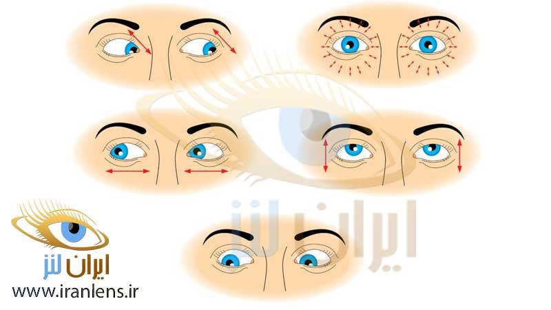 ورزش چشمی برای تقویت ماهیچه چشم و رفع خستگی چشم
