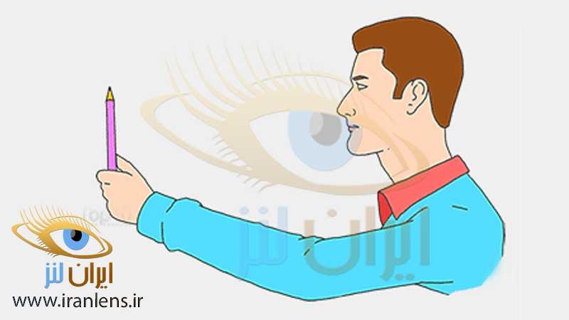 تصویر تمرین ورزش چشمی برای تقویت ماهیچه چشم با نگاه به خودکار
