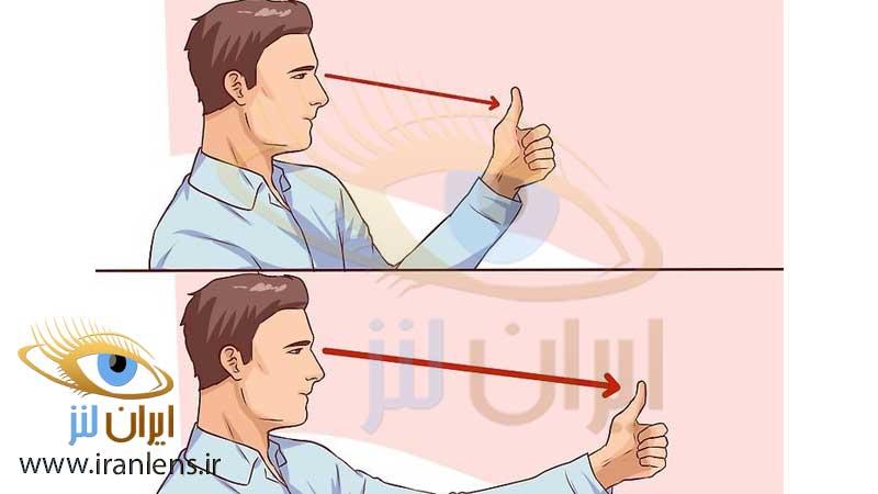 تمرین ورزش چشمی برای تقویت قوه فوکوس و تمرکز چشم