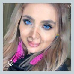 لنز رنگی زیبایی آبی خالص فصلی ببرند اپرا