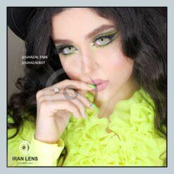 لنز چشم رنگی دست ساز با مردمک بزرگ گری گرین