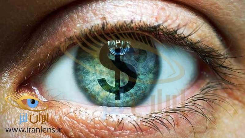 قیمت لنز چشم رنگی و طبی در ایران لنز