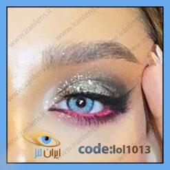 خرید لنز چشم رنگی مایا بلو سالانه طوسی آبی برند لولیتا
