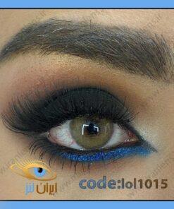 خرید لنز چشم رنگی روبال براون عسلی سالانه برند لولیتا از سایت ایران لنز