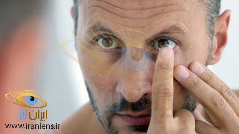 استفاده از لنز چشمی طبی رنگی در مردان