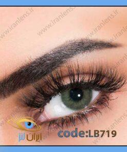فروش لنز رنگی جیالو فصلی سبز خالص برند لابلا در سایت ایران لنز