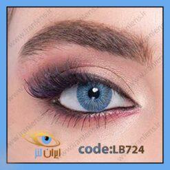 خرید لنز رنگی اکسکلوسیو بلو فصلی آبی برند لابلا از فروشگاه اینترنتی لنز چشم ایران لنز