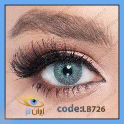 فروش لنز رنگی اکسکلوسیو گرین فصلی طوسی با ته رنگ سبز برند لابلا در سایت فروشگاهی آنلاین ایران لنز
