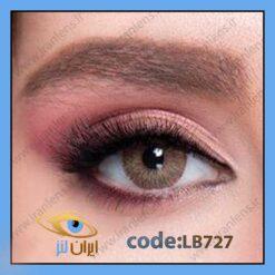فروش لنز رنگی اکسکلوسیو براون عسلی گرم برند لابلا در سایت آنلاین لنز چشم ایران لنز