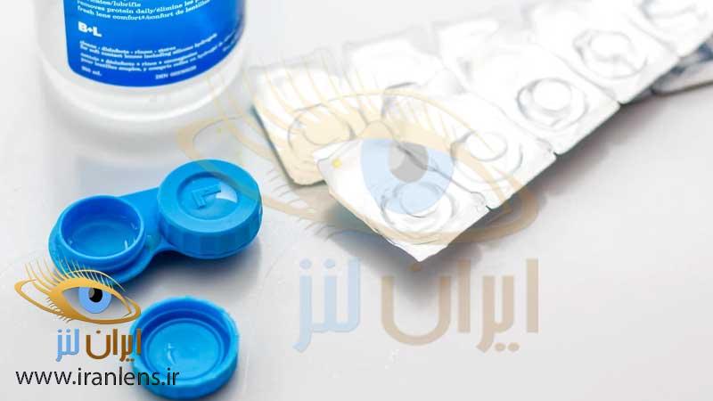 لنزهای فصلی و روزانه و ماهانه و یک بار مصرف در بسته بندی بلیستر یا پلاستیکی