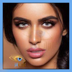 فروش لنز چشم طوسی خاکستری آیس روزانه و سالانه رنگی و طبی دهب
