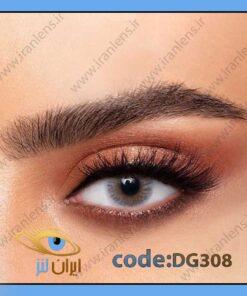 لنز رنگی آیس طبی و رنگی روزانه و سالانه خاکستری متوسط روشن دهب