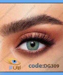 لنز رنگی و طبی لومیرر گرین روزانه و سالانه سبز متوسط روشن برند دهب