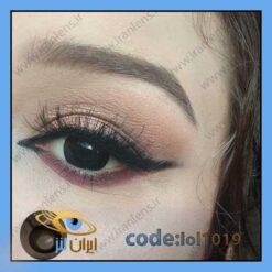 خرید لنز چشم رنگی بلک سالانه مشکی پر کلاغی برند لولیتا از سایت ایران لنز
