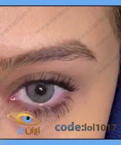 خرید لنز چشم رنگی سیلور گری سالانه طوسی دوردار برند لولیتا از فروشگاه اینترنتی ایران لنز