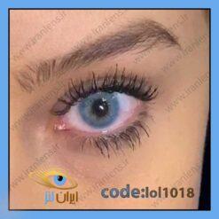 خرید لنز چشم رنگی لاپیس بلو سالانه آببی اقیانوسی برند لولیتا از فروشگاه اینترنتی ایران لنز
