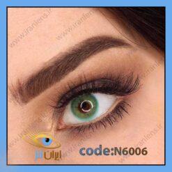 لنز چشم رنگی سبز متوسط فانتزی بدون دور سالانه کور گرین برند نچرال