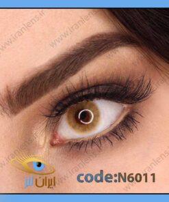 لنز چشم رنگی زیبایی عسلی بدون دور سالانه کور هیزل سالانه برند نچرال