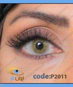 خرید لنز چشم عسلی لیمویی یلو براون سالانه برند پلی ویو از سایت ایران لنز
