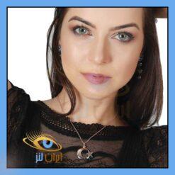 لنز چشم رنکی لولیتا بلو طوسی آبی بدون دور سالانه برند هیپنوس