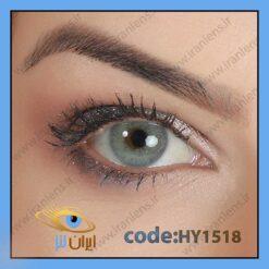 لنز چشم رنگی زیبایی بدون نمره طوسی آبی بدون دور سالانه لولیتا بلو برند هیپنوس