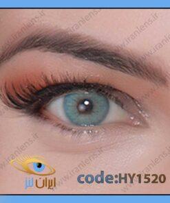 لنز چشم رنگی زیبایی بدون نمره و بدون دور آبی اقیانوسی تیره سالانه سی بلو برند هیپنوس