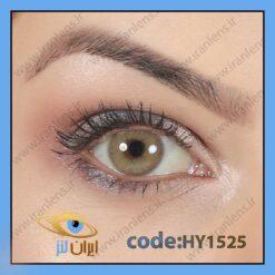لنز چشم رنگی زیبایی بدون نمره و بدون دور عسلی خاکی سالانه کتره برند هیپنوس