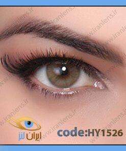 لنز چشم رنگی زیبایی بدون نمره سبز عسلی بدون دور سالانه هیزل برند هیپنوس