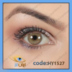 لنز چشم رنگی زیبایی بدون دور عسلی خاکی بدون نمره سالانه امبر برند هیپنوس