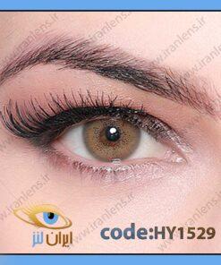 لنز چشم رنگی زیبایی بدون نمره دور تیله ای عسلی سبز سالانه امبره برند هیپنوس