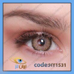 لنز چشم رنگی زیبایی طوسی عسلی متوسط روشن دوردار سالانه میراندا براون برند هیپنوس