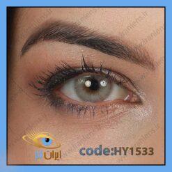 لنز چشم رنگی زیبایی بدون نمره طوسی روشن بدون دور سالانه آیس برند هیپنوس