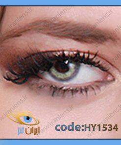 لنز چشم رنگی طوسی سبز روشن بدون نمره دور تیله ای سالانه ونوس گری از برند هیپنوس
