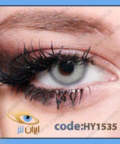 لنز چشم رنگی طوسی سبز روشن بدون نمره دور تیله ای سالانه سیندرلا گری از برند هیپنوس