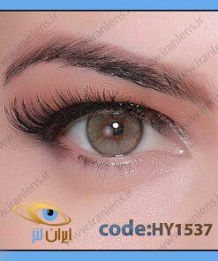 لنز چشم رنگی زیبایی بدون نمره سبز عسلی دوردار سالانه توبا برند هیپنوس