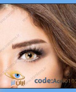 لنز چشم رنگی زیبایی بدون نمره عسلی خاکی دوردار سالانه سلبریتی نوها کوکو برند آناستازیا