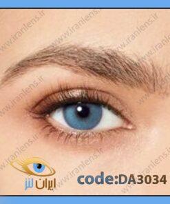 لنز چشم رنگی زیبایی آبی خالص دوردار فصلی کلاسیک بلو برند دسیو