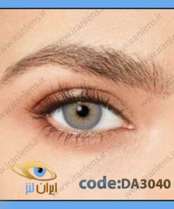لنز چشم رنگی زیباییطوسی نقره ای براق وسط عسلی دوردار فصلی پرشس گری برند دسیو