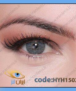لنز چشم رنگی زیبایی بدون نمره طوسی آبی روشن دوردار سالانه هالیوود گری برند هیپنوس