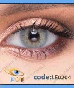 لنز چشم رنگی زیبایی بدون نمره طوسی سبز روشن بدون دور سالانه آلوئه گری برند له روه