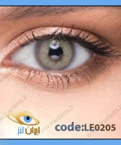 لنز چشم رنگی زیبایی بدون نمره طوسی سبز روشن دور تیله ای سالانه گری لروه