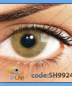 لنز چشم رنگی زیبایی بدون نمره بدون دور خاکی عسلی سالانه اوکر هیدروکور